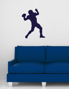 "F C Joyce School Falcons Wall Silhouette Decal 20"" x 32"""