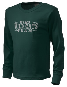 Wayne Ruble Middle Sdhool Wild Cats  Kid's Long Sleeve T-Shirt