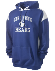 John J Jennings Elementary School Bears Men's Pullover Hooded Sweatshirt with Contrast Color