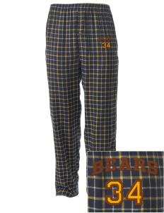 Thomaston Center School Bears Embroidered Men's Button-Fly Collegiate Flannel Pant