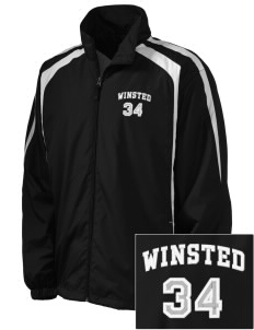 Winchester Alternative High School Winsted Embroidered Men's Colorblock Raglan Jacket