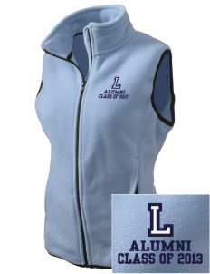Lincoln Middle School Leopards Embroidered Women's Fleece Vest