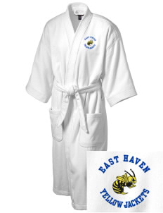 East Haven High School Yellow Jackets Embroidered Terry Velour Robe