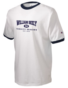 William Seely Elementary School Dragons Champion Men's Ringer T-Shirt