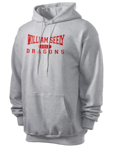 William Seely Elementary School Dragons Men's 7.8 oz Lightweight Hooded Sweatshirt