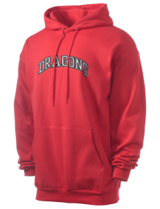 William Seely Elementary School Dragons Men's 7.8 oz Lightweight Hooded Sweatshirt with Distressed Applique