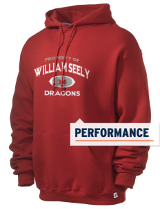 William Seely Elementary School Dragons Russell Men's Dri-Power Hooded Sweatshirt