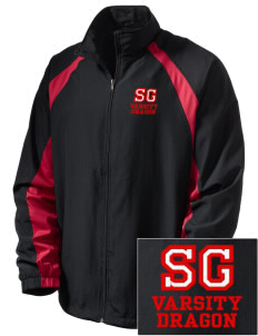 St. George's School Dragon  Embroidered Men's Full Zip Warm Up Jacket