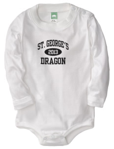St. George's School Dragon  Baby Long Sleeve 1-Piece with Shoulder Snaps