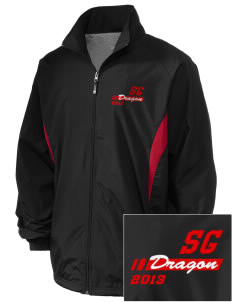 St. George's School Dragon Embroidered Holloway Men's Full-Zip Jacket
