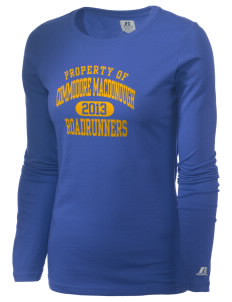 Commodore MacDonough Elementary School Roadrunners  Russell Women's Long Sleeve Campus T-Shirt