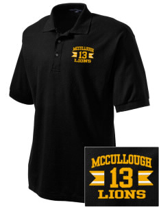 McCullough Elementary School Lions Embroidered Men's Silk Touch Polo