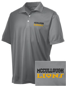 McCullough Elementary School Lions Embroidered Men's Double Mesh Polo