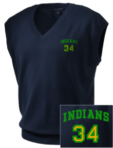 Frankford Elementary School Indians Embroidered Men's Fine-Gauge V-Neck Sweater Vest