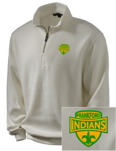 Frankford Elementary School Indians Embroidered Men's 1/4-Zip Sweatshirt
