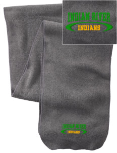Indian River High School Indians  Embroidered Extra Long Fleece Scarf