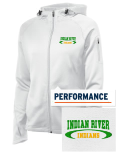 Indian River High School Indians Embroidered Women's Tech Fleece Full-Zip Hooded Jacket