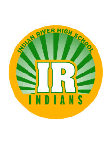 Indian River High School Indians Sticker