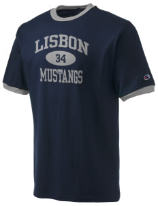 Lisbon Elementary School Mustangs Champion Men's Ringer T-Shirt