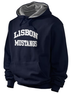 Lisbon Elementary School Mustangs Champion Men's Hooded Sweatshirt