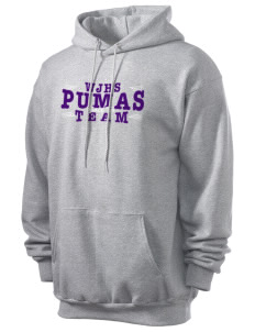 Waterville Junior High School Pumas Men's 7.8 oz Lightweight Hooded Sweatshirt
