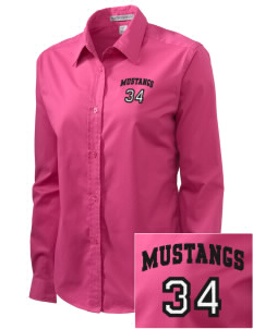 Crofton Meadows Elementary School Mustangs Embroidered Women's Easy-Care Shirt