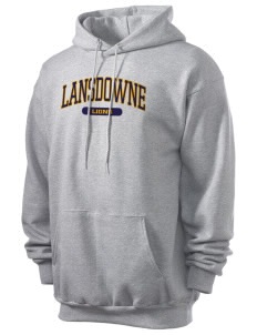 Lansdowne Middle School Lions Men's 7.8 oz Lightweight Hooded Sweatshirt