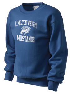 C Milton Wright High School Mustangs Kid's Crewneck Sweatshirt