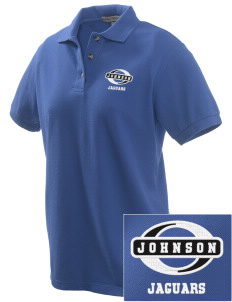 Johnson Elementary School Jaguars Embroidered Women's Pique Polo