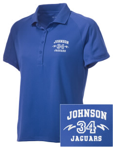 Johnson Elementary School Jaguars Embroidered Women's Polytech Mesh Insert Polo