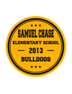 Samuel Chase Elementary School Bulldogs Sticker