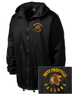 North Forestville Elementary School Falcons Embroidered Dickies Men's Fleece-Lined Hooded Jacket