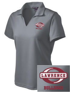 Lawrence School Bulldogs Embroidered Women's Dri Mesh Polo