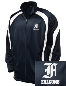Friedman Middle School Falcons Embroidered Holloway Men's Tricotex Warm Up Jacket