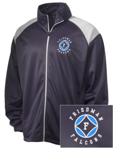 Friedman Middle School Falcons Embroidered Men's Tricot Track Jacket