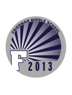 Friedman Middle School Falcons Sticker