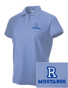 Ramona Elementary School Mustangs Embroidered Women's Technical Performance Polo