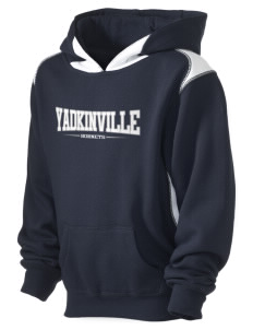 Yadkinville Elementary School Hornets Kid's Pullover Hooded Sweatshirt with Contrast Color