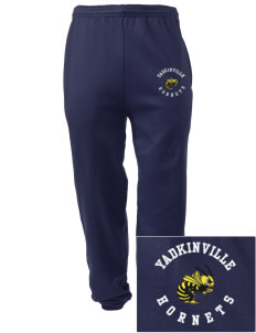 Yadkinville Elementary School Hornets Embroidered Men's Sweatpants with Pockets