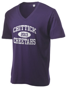 Chittick Elementary School Cheetahs Alternative Men's 3.7 oz Basic V-Neck T-Shirt