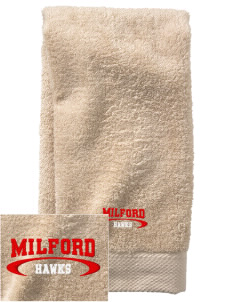 Milford High School Hawks  Embroidered Zero Twist Resort Hand Towel