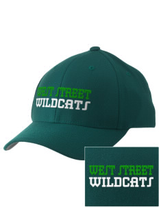 West Street Elementary School Wildcats Embroidered Pro Model Fitted Cap