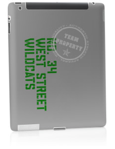 West Street Elementary School Wildcats Apple iPad 2 Skin