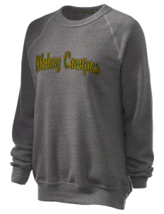 McKay Campus Elementary School Lions Unisex Alternative Eco-Fleece Raglan Sweatshirt with Distressed Applique