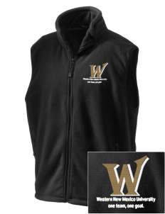 Western New Mexico University Mustangs Embroidered Unisex Wintercept Fleece Vest