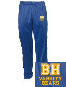 Bret Harte Elementary School Bears Embroidered Men's Tricot Track Pants