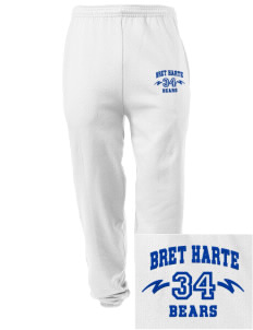 Bret Harte Elementary School Bears Embroidered Men's Sweatpants with Pockets