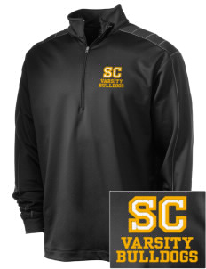 Southwest Community Campus Bulldogs Embroidered Nike Men's Golf Dri-Fit 1/2 Zip