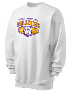 Southwest Community Campus Bulldogs Men's 7.8 oz Lightweight Crewneck Sweatshirt
