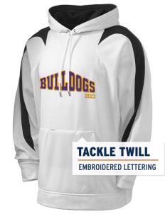 Southwest Community Campus Bulldogs Holloway Men's Sports Fleece Hooded Sweatshirt with Tackle Twill
